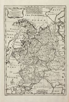 Antique Maps, Bowen, Russia, 1747: A New & Accurate Map of Moscovy, or Russia in Europe, with its Acquisitions ...