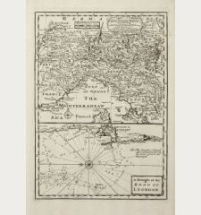 A New and Accurate Map of the Northern Parts of Italy ... / A Draught of the Road of Leghorn