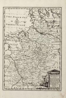 Antique Maps, Bowen, Germany, Northwest Germany, 1747: A New & Accurate Map of the North West Part of Germany