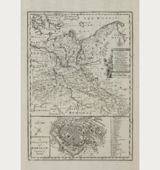 A New & Accurate Map of the North East Part of Germany Containing the Dominions of the Electors of Saxony & Brandenburg with...