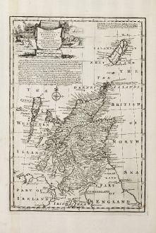 Antique Maps, Bowen, British Islands, Scotland, 1747: A New and Accurate Map of Scotland Compiled from Surveys, and the Most Approved Maps and Charts