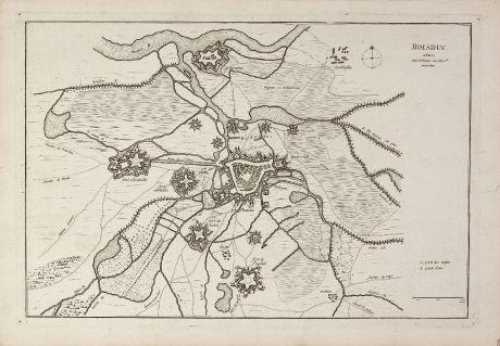 Antique Maps, le Rouge, Netherlands, Brabant, s-Hertogenbosch, 1750: Bolsduc