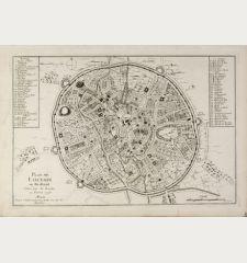 Plan de Louvain en Brabant Enlevé par les Grassins en Fevrier 1746