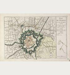Plan de Furnes et des Attaques de 1744 ...