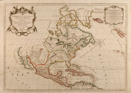 Antique Maps, Jaillot, North America, 1719: Amerique Septentrionale divisee en ses Principales Parties