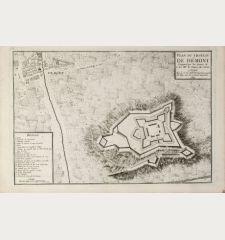 Plan du Chateau de Démont Emporté par les Armes de S.A.S. Mgr. le Prince de Conti.
