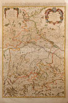 Antike Landkarten, Sanson, Deutschland, Bayern, 1692: Le Cercle De Baviere, subdivisé en tous les Estats qui le Composent. Dressé sur les Memoires les plus Nouveaux Par le Sr....