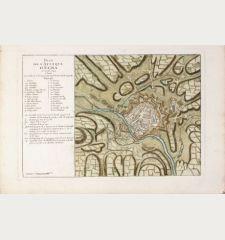 Plan de l'Attaque d'Egra en Avril 1742.