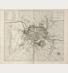 Plan de Tournay. Ville Episcopale situee sur l'Escault