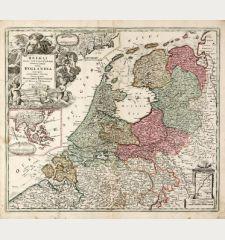 Belgii Pars Septentrionalis Communi Nomine vulgo Hollandia ... / Batavorum Coloniae Occidential Indiis Septentrionalis...