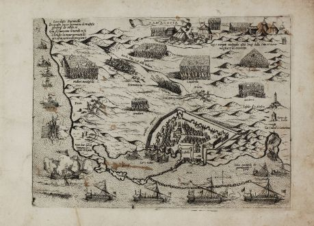 Antike Landkarten, Camocio, Zypern, Famagusta, 1571: Famagosta