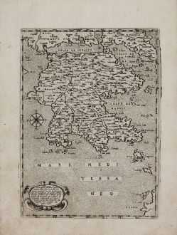 Antique Maps, Camocio, Greece, Peloponnese, 1571: Morea Peninsula ...