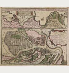 Nova et accuratissima Urbis St. Petersburg ... / Neue u. Accurate abbildung der der von dem großen Ruß. Kaiser Petro...