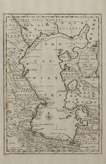Antique Maps, Bowen, Russia, Caspian Sea, 1747: A New & Accurate Map of the Caspian Sea ...
