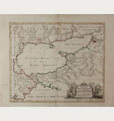 Nova Mappa Geographica Maris Assoviensis vel de Zabache, et Paludis Maeotidis ...