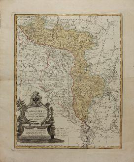 Antique Maps, Homann, Russia, Belarus, Lithuania, Ukraine, 1775: Charte von Russisch Litauen, welche die von Polen an Russland Abgetretene Woiewodschaften, Liefland, Witepsk, Mscislaw, und...