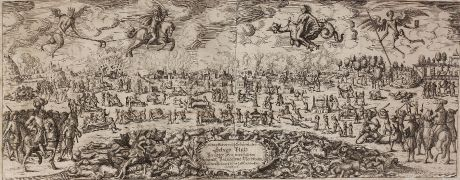 Graphics, Anonymous, Hollandse Oorlog, Franco-Dutch War, Pamphlet, 1675: Erschrecklicher und Erbärmlicher Schaw Platz Verüblter Frantzösischer Schandt Brandt und Mordthaten Ausz dem Hollandische...