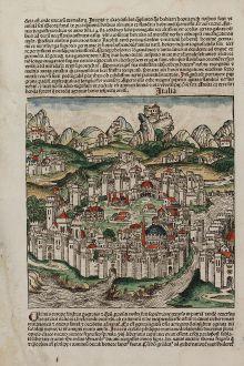 Antique Maps, Schedel, Italy, 1493: Italia / Portugalia