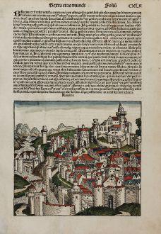 Antique Maps, Schedel, Italy, Ravenna, 1493: Rauenna