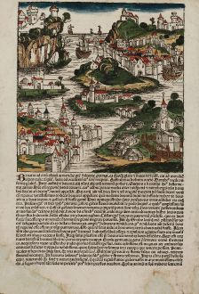 Antique Maps, Schedel, Germany, Bavaria, 1493: [Bavaria]