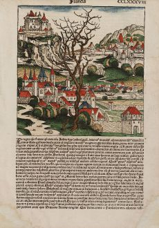 Antique Maps, Schedel, France, 1493: Francia