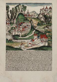 Antike Landkarten, Schedel, Österreich - Ungarn, 1493: [Hungaria]