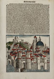 Antique Maps, Schedel, Turkey, Nicea, Iznik, 1493: Nicea Urbs