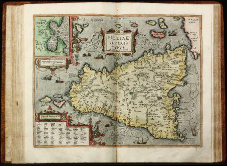 Atlanten, Ortelius, Atlas Parergon, 1595: Parergon, sive Veteris Geographiae aliquot Tabulae. [Bound with:] Nomenclator Ptolemaicus.
