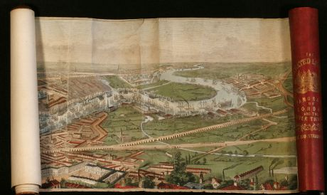 Antike Landkarten, Little, Britische Inseln, Panorama von London und Themse: The Illustrated London News, Panorama of London and the River Thames.