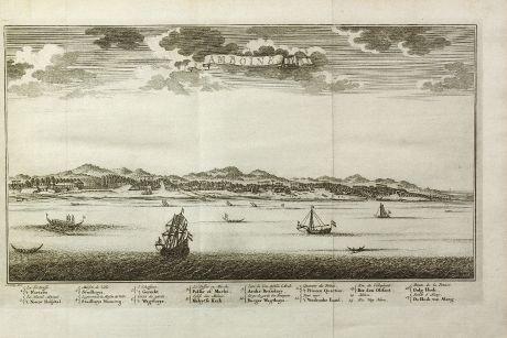 Antike Landkarten, van der Schley, Südost Asien, Indonesien, Molukken, Ambon, VOC: Amboine