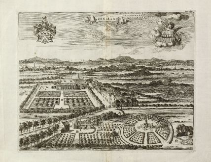 Antike Landkarten, Smallegange, Niederlande, Schellagh, Middelburg, 1696: Schellagh