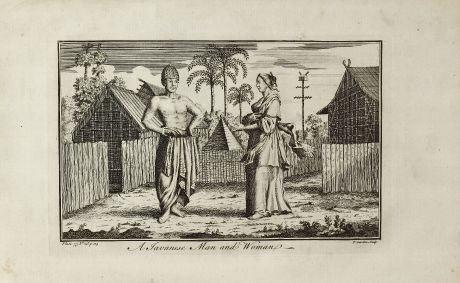 Grafiken, Garden, Indonesien, Java, 1750: A Javanese Man and Woman