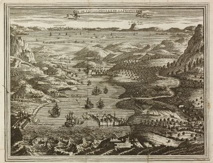 Antique Maps, Duflos, Turkey, Constantinople, Bosporus, Dardanelles, 1747: Vue de l'Hellespont et de la Propontide