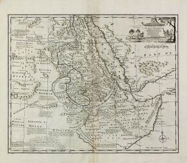 Antike Landkarten, Bowen, Mittlerer Osten, Abessinien, Rotes Meer, Äthiopien: A New and Accurate Map of Nubia & Abissinia, Together with All the Kingdoms Tributary there to ...