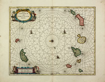 Antique Maps, Valk & Schenk, Canary Island, Madeira, 1700: Insulae Canariae, olim Fortunatae Dictae