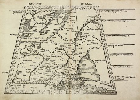Antique Maps, Waldseemüller, Russia, Eastern Europe, Poland, Scandinavia: Octava Europe Tabula