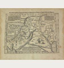 Cyria / Cypern / Palestina / Mesopotamia / Babylonia / Chaldea und zwey Arabia mit Bergen Wassern und Stetten