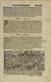 Antike Landkarten, Münster, Griechenland, Kreta, 1574: Candia seu Creta Insula
