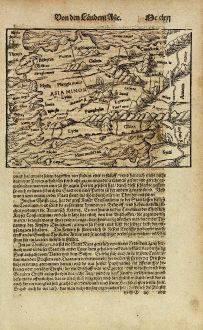 Antique Maps, Münster, Turkey, Asia Minor, 1574: [Asia Minor]