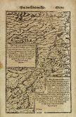Antike Holzschnitt-Landkarte von Zypern, Israel. Gedruckt bei Heinrich Petri im Jahre 1574 in Basel.