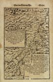 Antique woodcut map of Cyprus, Israel. Printed in Basle by Heinrich Petri in 1574.