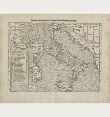 Italia mit Dreien furnemsten Inseln, Corsica, Sardinia und Sicilia.