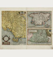 Senensis Ditionis Accurata Descriptio / Corsica / Marcha Anconae, olim Picenum 1572