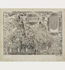 Die Statt Sitten sampt zweyen Schloessern und Bischofflichen Kirchen, Valeria genannt.