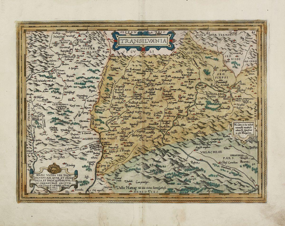 Romania - Moldavia - Ortelius, Abraham - Transilvania