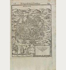 Le Vray Pourtrait de la grande cite de Temistitan ou Tenutlitan, chef du royaume, & Province puissante du Mexique.