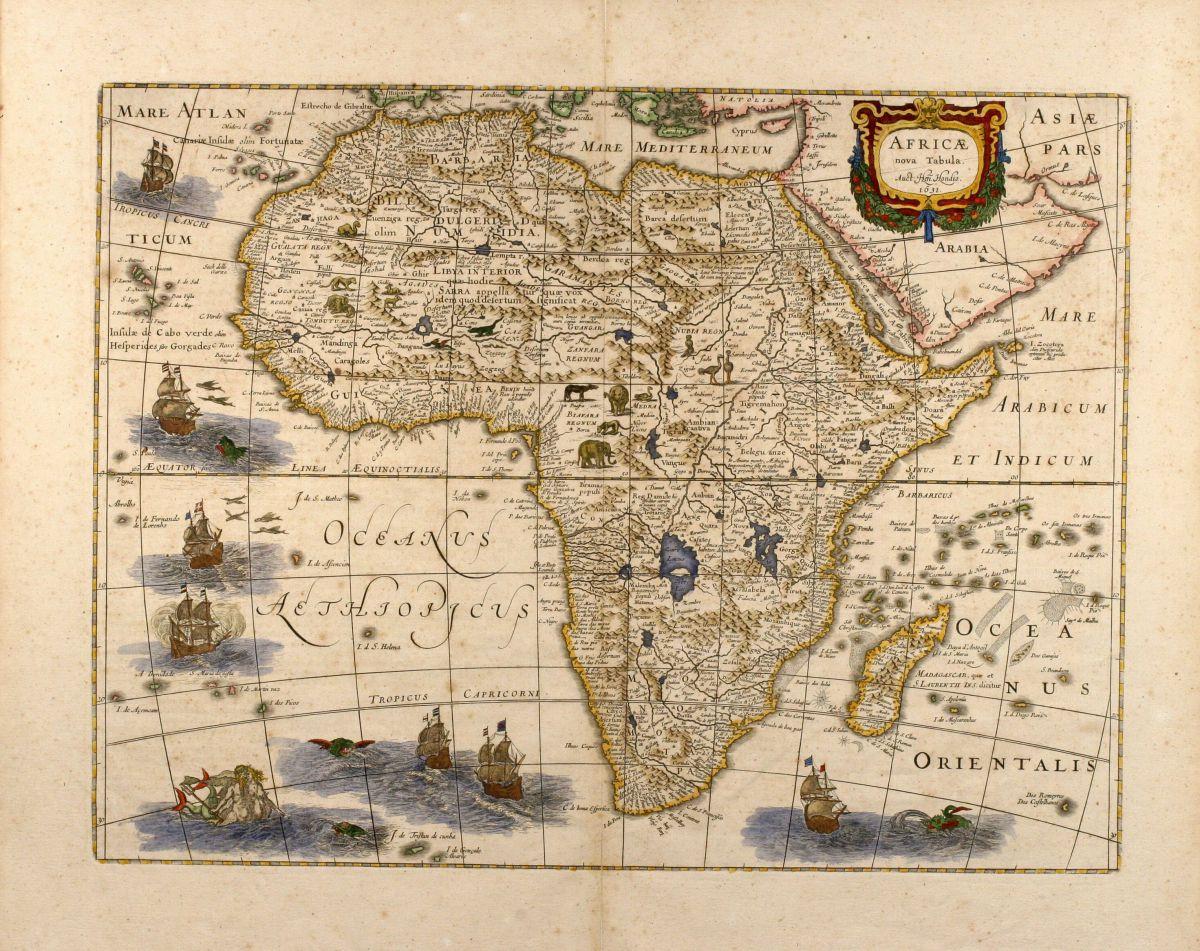 Africa - Hondius, Jodocus - Africae nova tabula