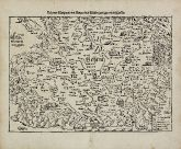 Antique woodcut map of Czechia - Bohemia. Printed in Basle by Heinrich Petri in 1574.