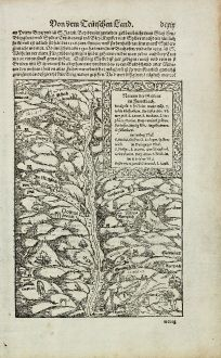 Antique Maps, Münster, France, Alsatia, Alsace, 1574: Namen der Gruben im Furtelbach