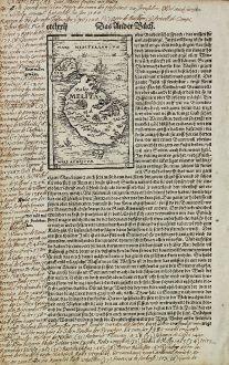 Antike Landkarten, Münster, Malta, Kreuzzüge, Johanniterorden, Großmeister: [Malta and Gozo]